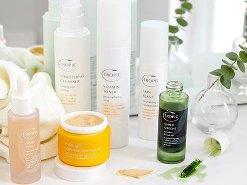 Tropic skincare collections. Facial aesthetics Clanfield and Waterlooville. Natural beauty treatments.